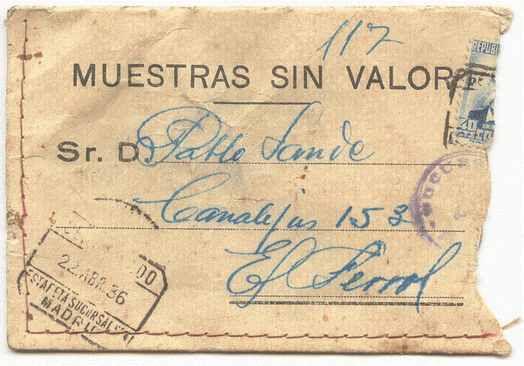 correspondencia 1936